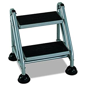 Amazon Com Cosco 2 Step Rolling Step Ladder Grey Home
