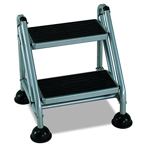 Cosco 2-Step Rolling Step Ladder, Grey by Cosco