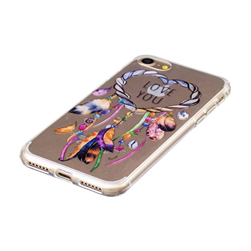Crisant Case Cover For Apple iPhone 7 4.7'' (4,7''),Couleur Campanula Premium gel TPU souple Très mince Transparent Clair Bumper silicone protection Housse arrière coque étui Pour Apple iPhone 7 4.7''