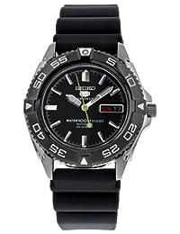 Seiko Men's SNZB23J2 Black Rubber Automatic Watch