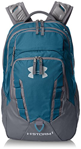 (Under Armour Storm Recruit Backpack,Bayou Blue /Overcast Gray, One Size )