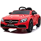 Dorsa 12V Mercedes Benz C63 Ride On Car For Kids, Red, 1588Q