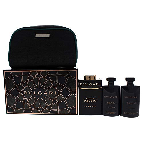 Bvlgari 4 Piece Man In Black Eau de Parfum Spray Gift Set for Men