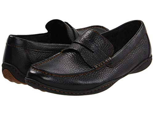 Born Mens Simon Leather Closed Toe Penny Loafer, Black, Size 9.0