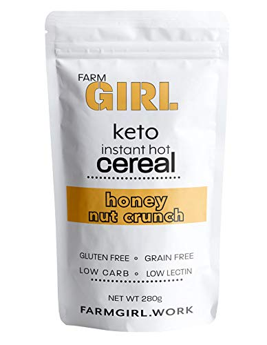 Farm Girl: Instant Keto Hot Cereal-Breakfast - Gluten and Grain Free - Perfect Ketogenic Friendly Food - Low Carb High Protein Products - Good for Desserts and Diabetic Diets