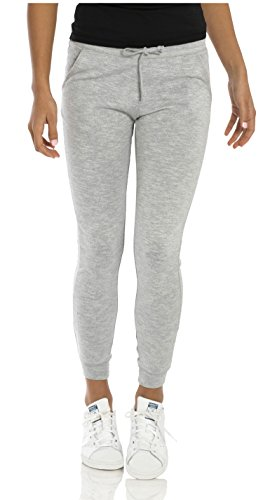 VBRANDED Women's Lightweight Fitted Skinny Joggers Sweatpants Small Grey