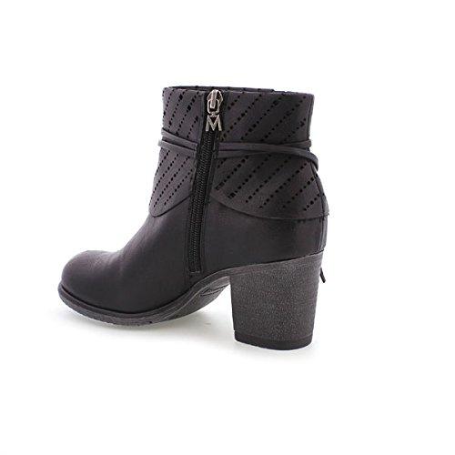 Para Waxed Zapatos 66131 Mujer Negro Vestir Mm De PawqS