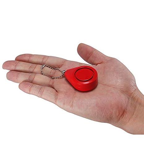 TENGGO 120dB Personal Safty Emergency Battery Alarm Key Ring Keychain For Women Children-Red