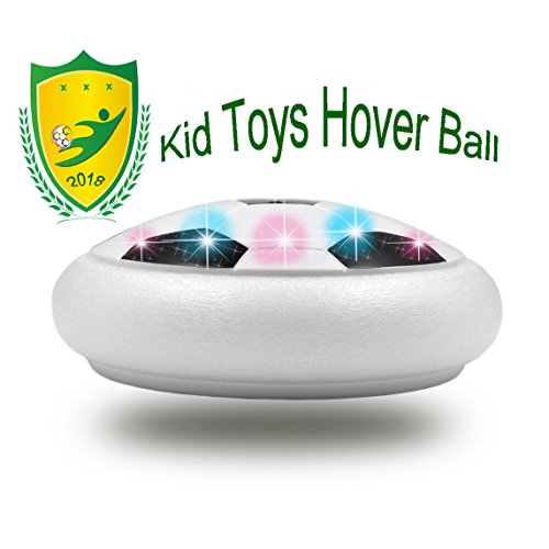 JRD&BS WINL Kids Toys Soccer Floating Football with Colorful LED Light for 4-8 Years Old Indoor Outdoor Play,9 Year Old Boy Birthday Gift(Style1 White)