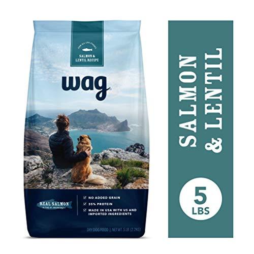 (Amazon Brand - Wag Dry Dog Food Salmon & Lentil Recipe (5 lb. Bag) Trial)