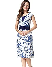 09822d3ab1c Flower Maternity Clothes Breastfeeding Nursing Dresses for Pregnant Women