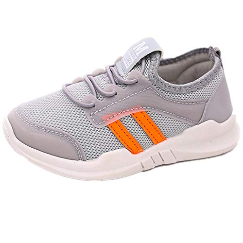 TOOPOOT Baby boy Girl Lightweight Comfortable Children's Sports Shoes Running Shoes Casual Shoes Gray ()
