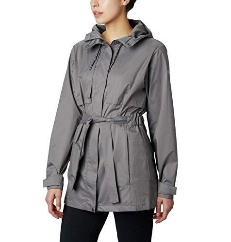 Columbia Women's Pardon My Trench Waterproof Rain Jacket, City Grey, - System City Jacket Womens