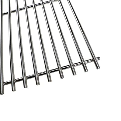 Hisencn Stainless Steel Wire Cooking Grid Grates JCX531(4-Pack) Replacement for Turbo 4-Burner, 5-Burner, 720-0057-4B, 750-0058-4BRB, Nexgrill 720-0584A, Perfect Flame 720-0335 Gas Grill Models