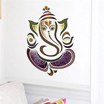 Amazon.com: Best Choise Product Wall Decals Ganesh Elephant ...
