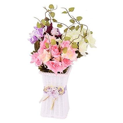 eDealMax plástico de Casa de Los decorativo de DIY simulación Artificial de la Flor del florero