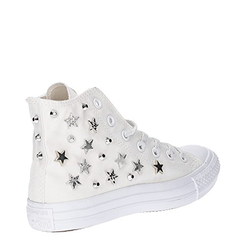 Converse, Donna, All Star Chuck Taylor High Canvas LTD, Tela, Sneakers Alte, Bianco