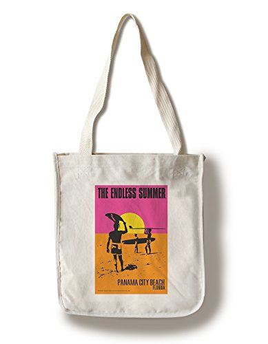 Panama City Beach, Florida - The Endless Summer Movie Poster (100% Cotton Tote Bag - Reusable, Gussets, Made in - Beach Panama City Shopping