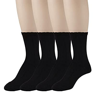 Women's Dress Crew Socks - Lightweight, Soft Mid-Calf Short Trouser Sock – Size 5-12 – by PEDS