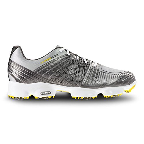 FootJoy FJ Men's Hyperflex II Golf Shoes Silver 12 W