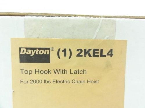 Dayton 2KEL4 Top Hook with Latch for 2000 Lb Hoist
