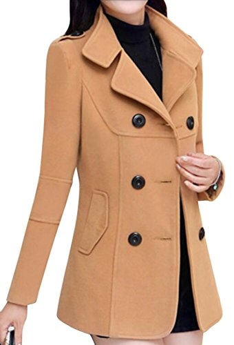 SYTX-women clothes Camel Wool Blazer 2019