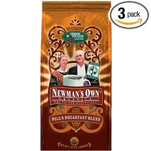 Newman's Green Mountain Coffee Organics Nell's Breakfast Blend Ground Coffee 10 OZ (Pack of 18) by Newman's Own