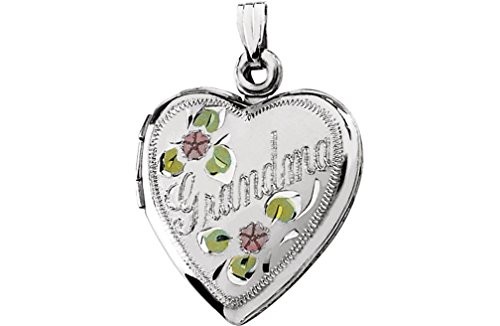Grandma Heart Locket in Sterling Silver by The Men's Jewelry Store (for HER)