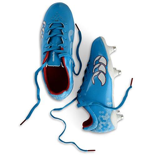 Canterbury Speed Club 6 Stud - Zapatillas Para Rugby de material sintético niños azul - Bleu (a60)