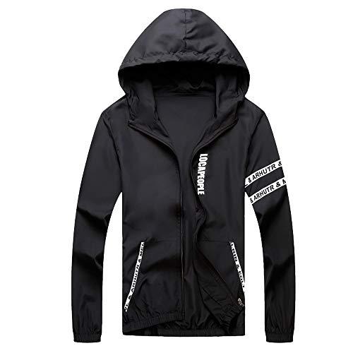 Ywoow Men's Windbreaker Quick-Drying Jacket Mens Casual Jacket Outdoor Sportswear Windbreaker Lightweight Bomber Jackets
