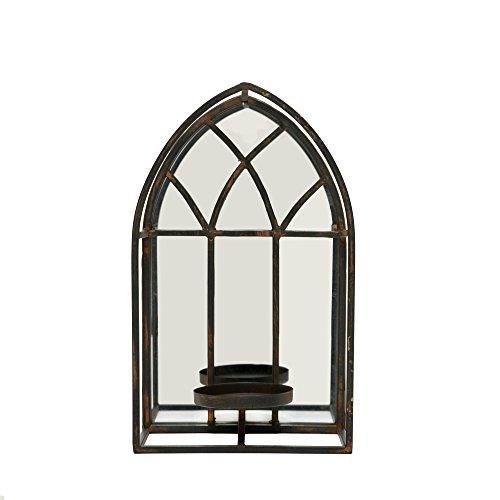 Church Window Lantern w/Mirror Wall Mount Table Top Display Candle Holder Decor