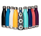 MIRA Vacuum Insulated Travel Water Bottle | Leak-Proof Double Walled Stainless Steel Cola Shape Sports Water Bottle | No Sweating, Keeps Your Drink Hot & Cold | 25 Oz (750 ml) (Mandala)