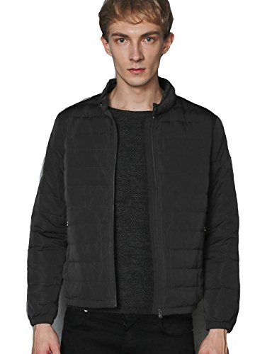 CHERRY CHICK Men's New Moto Style Down Jacket (US Medium/Chinese XL, Soft Dark Grey) (New Chick)