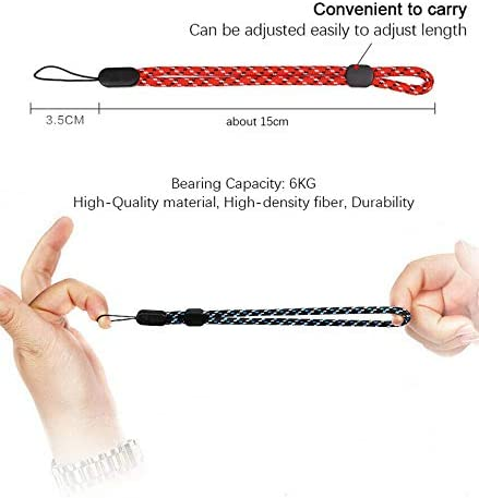 DragonPad Superior Adjustable Wrist Strap Lanyard for Cell Phone DSLR Camera GoPro Hero Black and White