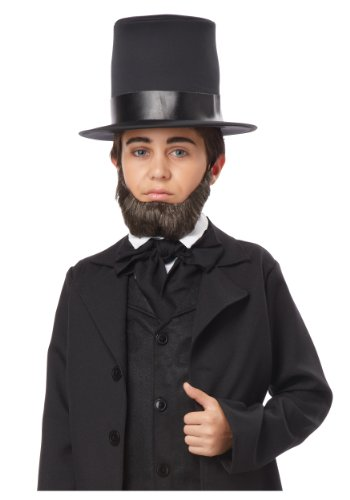 [California Costumes Honest Abe Beard Child Costume, ACC] (Costumes With Beards)