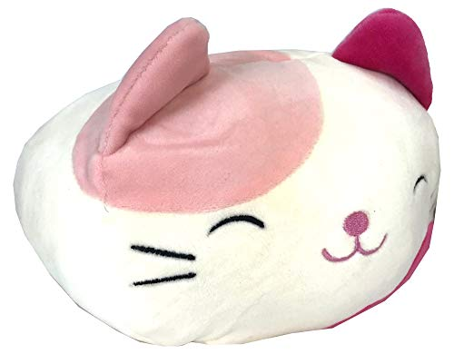 "Squishmallow Kellytoy 8"" Pink Calico Cat Stackable Squad Plush Soft Pillows"