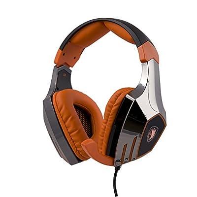 Sades A60 7.1 Surround Stereo PC Pro USB Gaming Headset Headphone with High Sensitivity Mic Vibration(Electroplating Version) + Sades Retail Gift Box