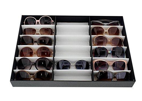 Juvale Eyewear Storage Tray Display Case - 18 Slots Eyeglasses Sunglasses - 18.5 x 14.25 x 2.5 inches by Juvale (Image #5)