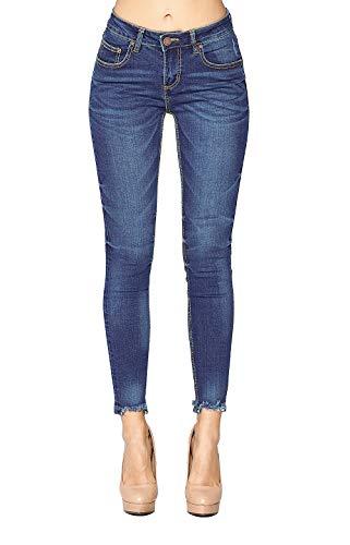 - Blue Age Women's Ripped Hem Skinny Jeans (JP3001_MD_11)