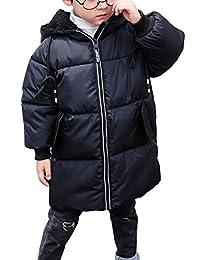 Happy Cherry Girl Boy Bear Ear Hood Winter Long Down Jacket Snowsuit Zip Coat