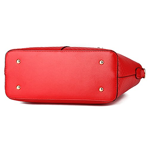 leather red many bags for in black pockets women hard with crossbody Handbag Claret brand Vvting color XZwqqR
