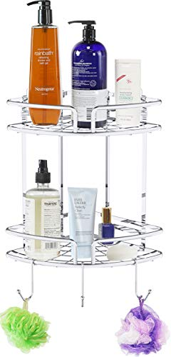 Simple Houseware Bathroom Shower Caddy Adhesive Corner Shelves