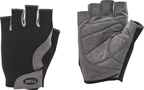 (Bell Breeze HF Mesh Cycling Gloves, Black/Grey, Large/X-Large)