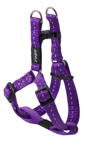 Reflective Step-in Adjustable Harness for Small Dogs; matching collar and lead available, Purple Basic Halter