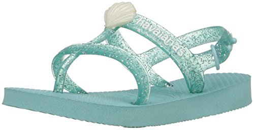 Havaianas Girls' Joy Gladiator Sandal, Ice Blue, 27/28 BR/11/12 M US Little - Sale Havaiana