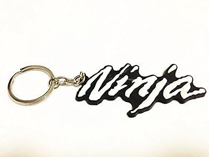 Motor_pro Key White Chain Key Ring for Kawasaki Ninja Z All Series NEW