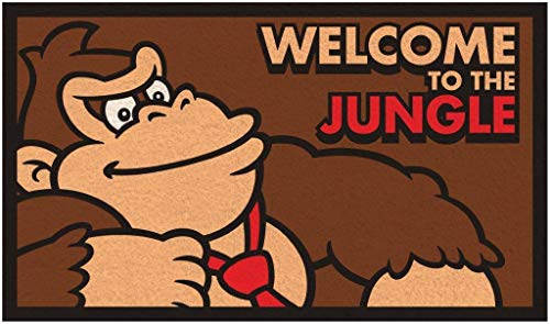Pyramid America Donkey Kong Welcome to The Jungle Outdoor Doormat Door Mat 30x18 inch