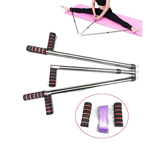 TABODD Leg Stretecher Heavy Duty Flexibility Stretching Machine Martial Arts Stretch Yoga Gym 3 Bar Portable 180 Degree Adjustable