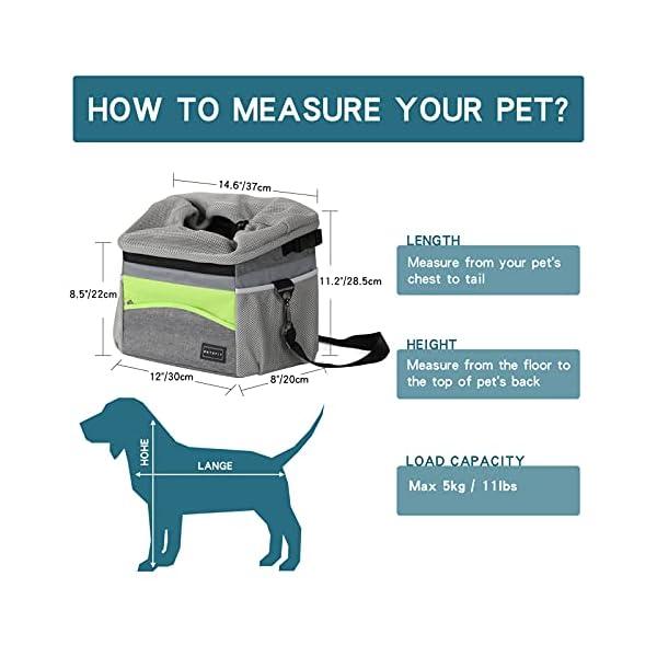41aeRbbLMvS Petsfit Fahrradkorb Vorne für kleine Haustiere, Katzen, Hunde, Abnehmbarer Fahrrad Hundekorb,Schnellentriegelung…