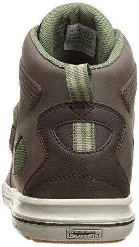 Skechers Sport Hommes Arcade Ii Milieu Sneaker Brun / Vert